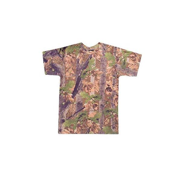 Camo T-shirt, med korte ærmer.3 forskellige farver